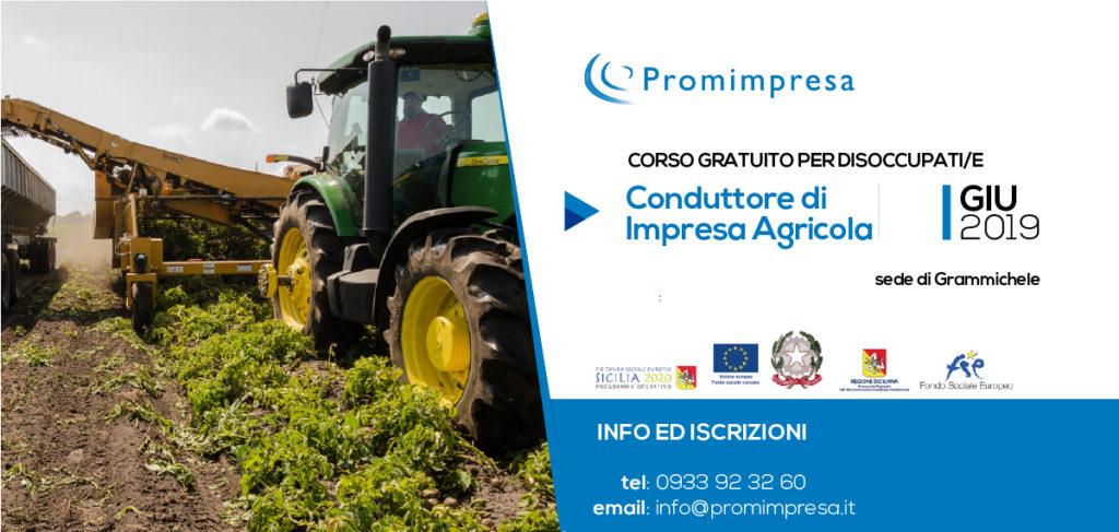 corso gratuito per conduttore di impresa agricola a Grammichele