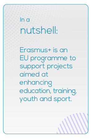 Erasmus+ is an EU programme to support projects aimed at enhancing education, training, youth and sport.