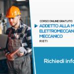 Corso per Addetto alla Manutenzione Elettromeccanica e Disegno Meccanico (Gratuito) | Formazione Online RIETI