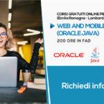 Corsi in Junior Web and Mobile Development Linguaggio Oracle Java (Gratuiti) | Formazione Online (Lombardia ed Emilia-Romagna)